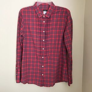J Crew Tuxedo Plaid Tunic Shirt | M